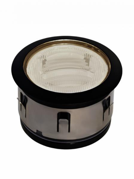 in-lite® BIG FLUX ASYMMETRIC mit Ring 68 black mit cup seitlich